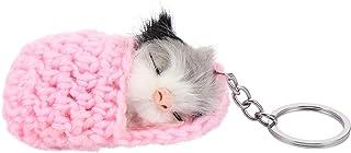 VALICLUD Hamster Porte-Clés en Peluche Animal Clé Charme Nouveauté Porte-Clés Décoratif Porte-Clés Porte-Clés Cadeaux Faux...