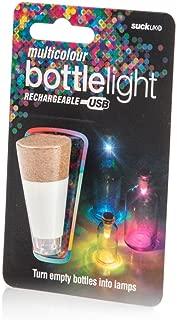 Suck UK SK LIGHTBOTTLE3 Official Rechargeable Usb LED Bottle Light - Reusable Table/Home Decoration, Standard, Multicolor