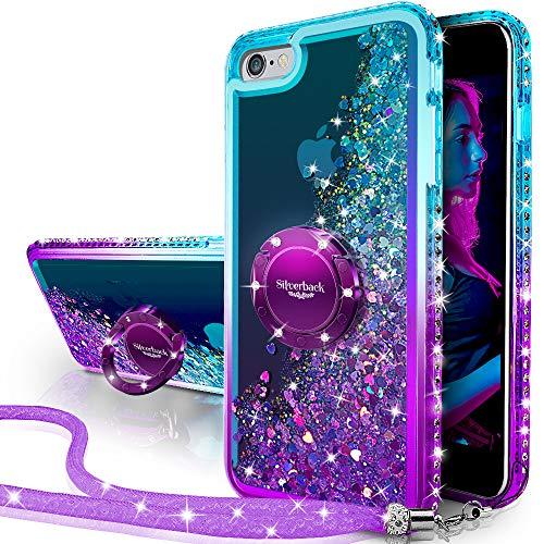 Miss Arts Funda iPhone 6S Plus,iPhone 6 Plus,[Silverback] Carcasa Brillante Purpurina con...