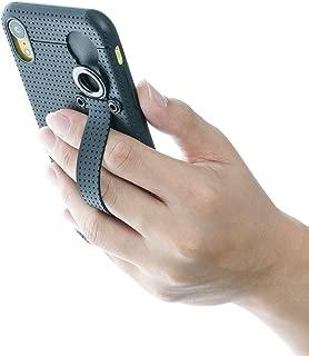 iPhone XR 手机壳带 TFY 2 合 1 设计,手机壳 + 手提带支架兼容 iPhone XR - 黑色