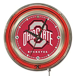 Holland Bar Stool Co. Officially Licensed Ohio State University Double Neon 15 Clock