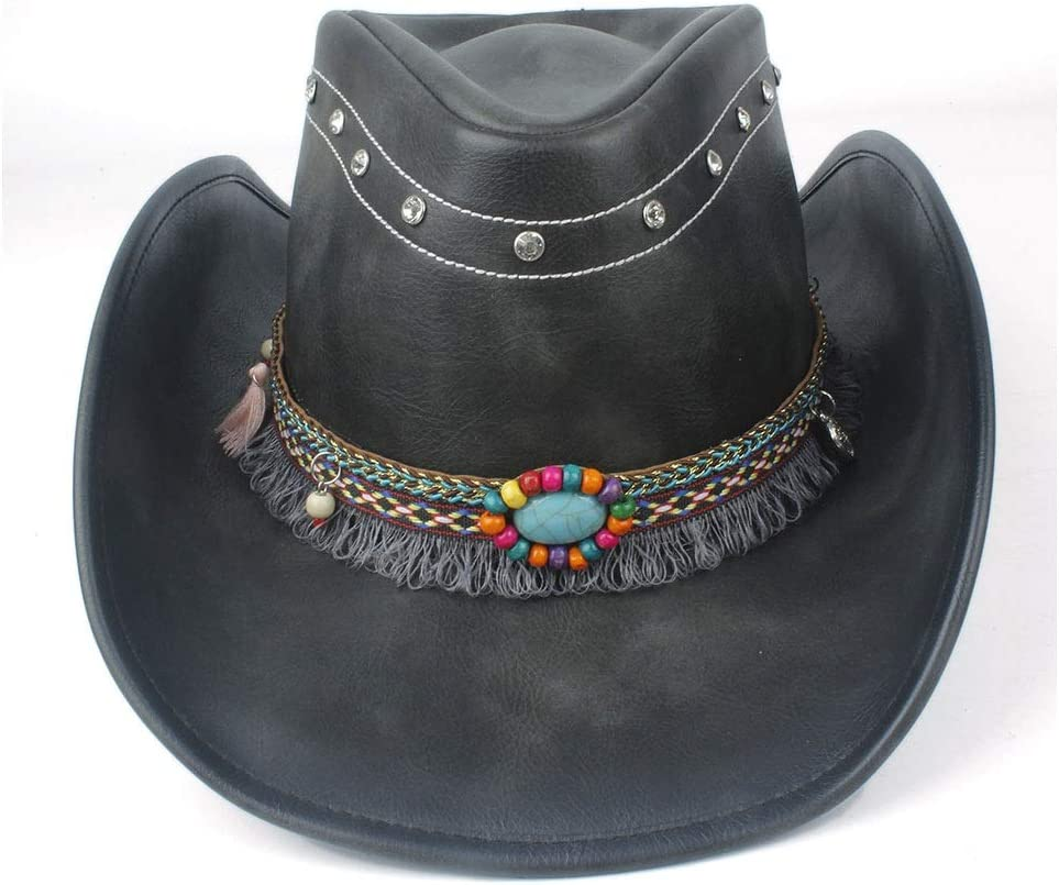 SHAONANSHI Men Women Western Mesa Mall Cowboy Ribb Tassel with Ranking TOP10 Hat Leather