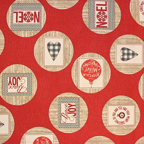 Sprügel Mitteldecke Tischläufer, verschiedene Größen, rot/beige, Größe Tischwäsche:Tischläufer 50 x 150 cm