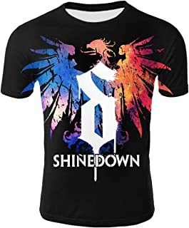 YHGTB Shinedown Men's Women's Shirt Adult Double-Sided Printing Short Sleeve Crew Neck T Shirt
