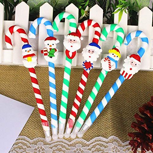 1 unids muñecas de navidad arcilla blanda bolígrafo forma de bastón bolígrafo bolígrafo para estudiantes...