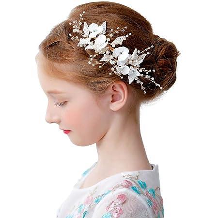 Bridal Flower hair pins White Ivory Wedding hair pins Bridal hair piece Bridesmaid Flower girl First Communion Bridal hair accessories