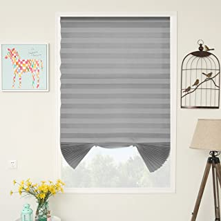SUNFREE Pleated Blinds Cordless Shades Temporary Blinds, Room Darkening Window Shade 48