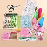 YURROAD Juego de 19 herramientas de papel para hacer filigranas, tiras de papel