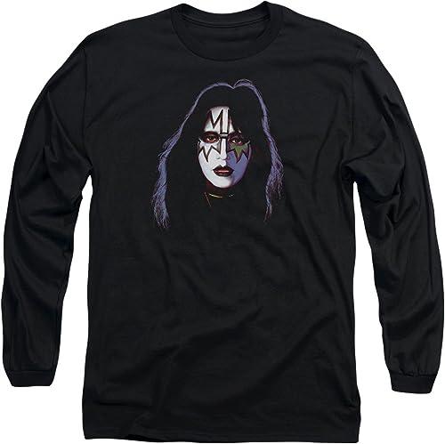 Kiss - - T-Shirt à Manches Longues avec Couverture pour Ace Frehley