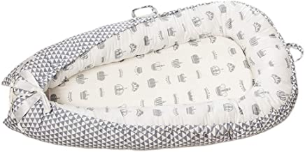 HomeDecTime Cuna De Viaje Plegable Baby Bassinet Bed Cotton Sleeping - Corona_Blanco