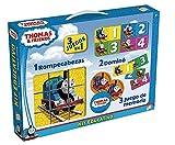 Thomas y sus amigos - Kit Educativo con Rompecabezas, Juego de Memoria y dominó (Cefatoys 88242)