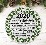 Anyuwerw 2020 Ornamento di Natale | Decorazione natalizia 2020 | Pallina ricordo 2020 | Blocco | Quarantena | Pandemia | Coronavirus | COVID | Albero