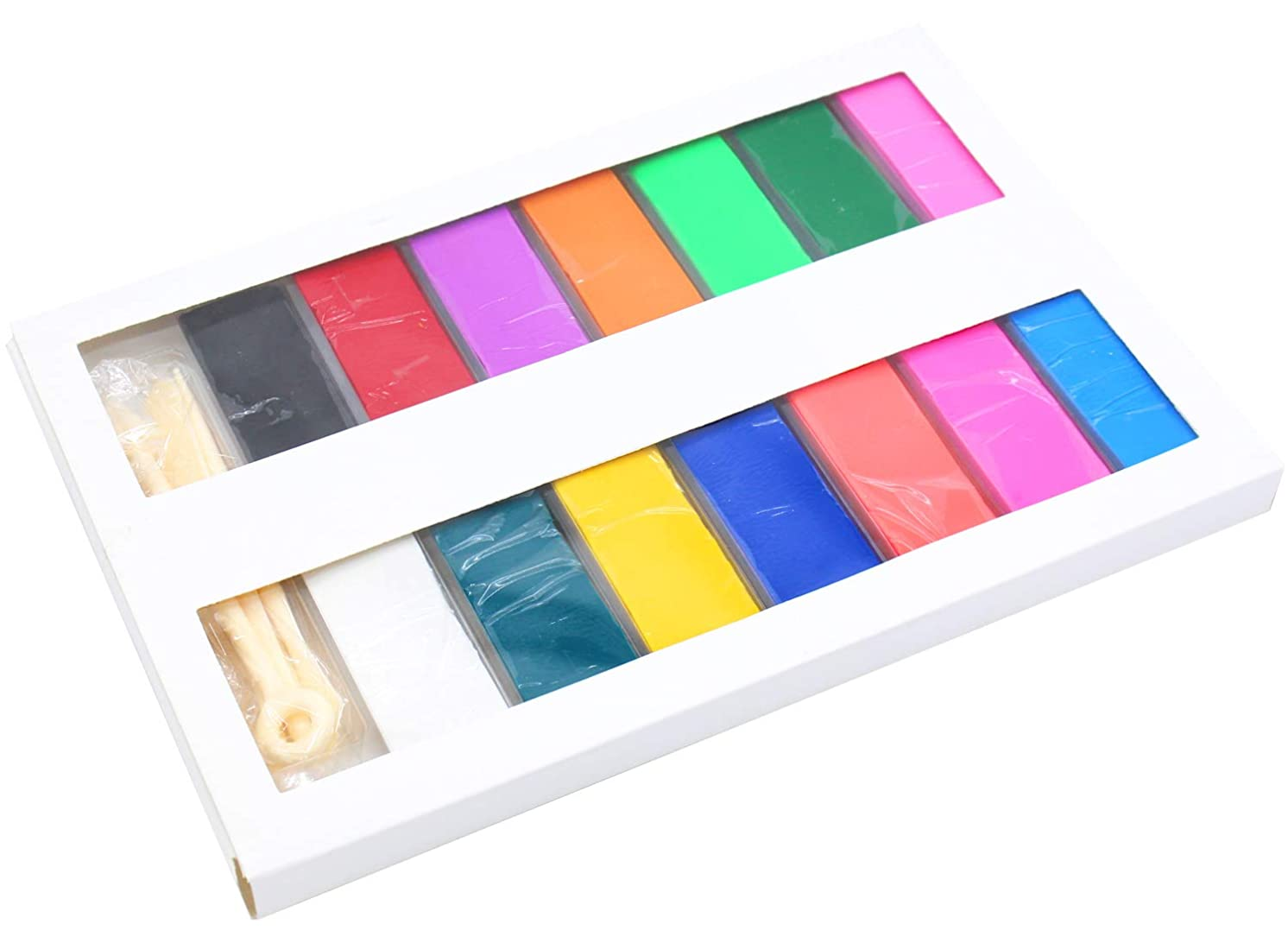 26 Pcs Colored Blocks Polymer Clay Soft Craft Oven Bake Modelling Clay with Accessories DIY Clay for Children,1.6LB