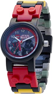 LEGO Kids' 8020813 Star Wars Boba Fett and Darth Vader Watch with Link Bracelet and Minifigure