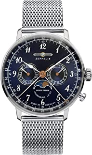 Zeppelin LZ-129 Hindenburg Moonphase Watch | Blue & Stainless Steel - 40mm