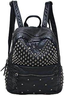 piel con tachuelas para mujer mochila Casual Pack bolsas de escuela de moda para niñas