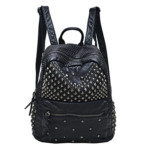Sannea Womens Studded Leather Backpack Casual Pack Fashion School Bags for  Girls 00df87f2af767