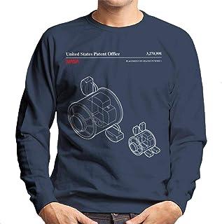 NASA Placement of 4 Racks Node 1 Blueprint Men's Sweatshirt
