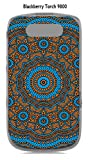 Onozo Cover Blackberry Torch 9800Design Mandala rosone Bicolore Blu & Arancione