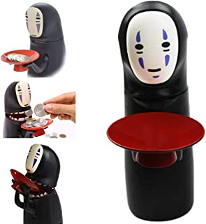 No-Face Piggy Bank Toy Banks No-face Man Electric Doll with Music Piggy Saving Coin Bank Eat Coin Machine