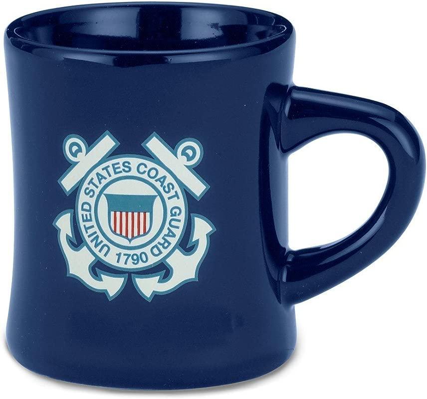 United States Coast Guard Navy Military Stoneware Coffee Diner Mug By Cornell