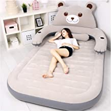 Inflated Mattress,Home Simple Cartoons Fold Lunch Break Air Bed Outdoor Lazy Portable Thicken Air Mattress,Single Double