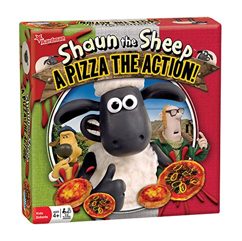 Outset Media - Shaun the Sheep A Pizza the Action Board Game - Based on the Popular Wallace and Gromit Children's Cartoon - Ages 4+