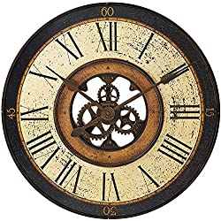 "Howard Miller Brass Works Wall Clock 625-542 – 32"" Antique Oversized Gallery with Quartz Movement"
