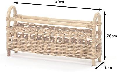 サンフラワーラタン スリッパラック ナチュラル 幅49×奥行き11×高さ26cm ラタン製 R483ME