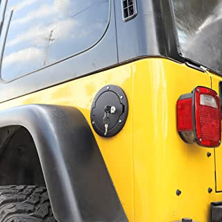WXQYR c1 Stück Autoöldeckel Tankdeckeldeckel mit Schlüssel für Jeep Wrangler TJ 1997 2006 Tankdeckel Zubehör
