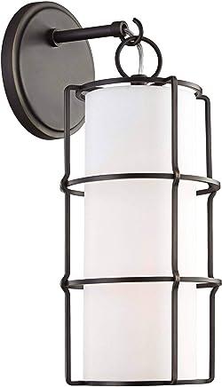 Hudson Valley Sovereign 16インチ 高 オールドブロンズ LED 壁取り付け用燭台