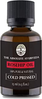 Sheer Veda Rosehip Seed Oil For Face Skin and Hair. Pure Natural and Organic Cold Pressed 15 ml
