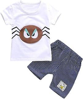 Summer Toddler Sunsuit Fartido Kids Outfit Set Baby Boys Pants Beard T-Shirt Fashion Childrens Wear