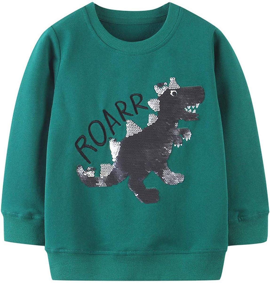Baby Boys Girls Toddler Long Sleeve Cotton Crewneck Pullover Sweatshirt Christmas Cartoon Cute Top Shirt