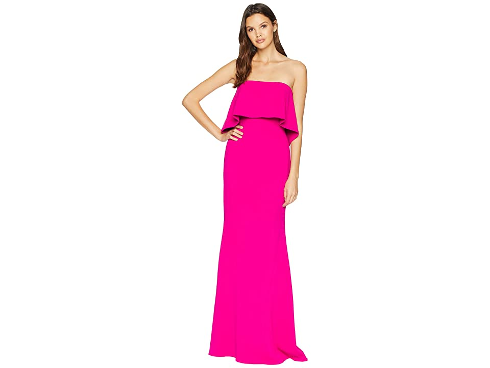 Badgley Mischka Popover Gown (Deep Magenta) Women