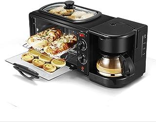 Machine à Petit-déjeuner 3-en-1, cafetière Multifonction Centrale rétro familiale avec Bouilloire électrique Grille-Pain F...