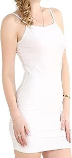 Chifave Women's Sexy Bodycon Spaghetti Strap Cami Slip Under Mini Dress