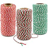 300M Cotton Christmas Twine String, Craft Cotton Thread Bakers Twine for DIY Crafts