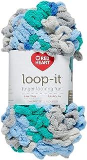 Red Heart Yarn Loop-IT Blue/Green, Blue & Green with Envy, Each