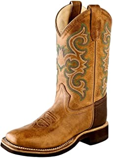 Old West Kids Boots Unisex Square Toe Crepe Sole Tan Fry (Toddler/Little Kid)