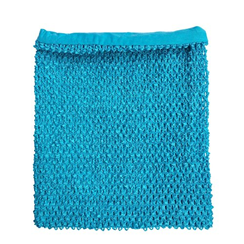 momtutus Turquoise Crochet Tutu Top Lined 12 Inches X 10 Inches Elastic Crochet Tube Top, Large