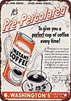G.ワシントンのインスタントコーヒー 金属板ブリキ看板警告サイン注意サイン表示パネル情報サイン金属安全サイン