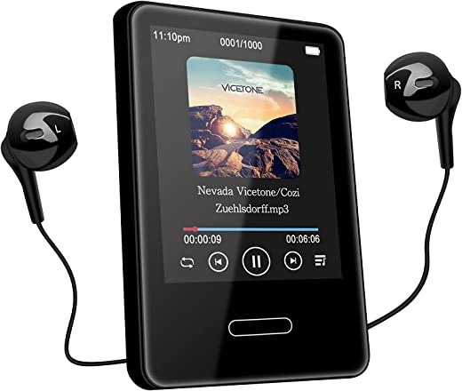 MP3 Music Player with Bluetooth: 16GB Portable Touchscreen mp3 Player Lossless Sound Hi-Fi Music Player for Walking Running with FM Radio