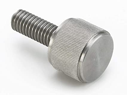 Steel Thumb Screw Made in US Flat Point 1//4-20 UNC Threads Plain Finish 1//2 Length Knurled Head Fully Threaded