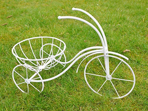Noir Country en métal Fonctionne Vélo Traditionnel Crème pour Pot de Jardin