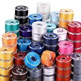 144 Pieces Prewound Bobbins Sewing Thread Bobbins Compatible with Brother/Babylock/Janome/Elna/Singer Embroidery Machine, Size A (24 Colors)