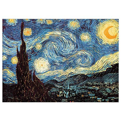 Rompecabezas,1000 Piezas Color Circle Puzzle 1000 Piezas Flores Puzzle Ocio Juguete (Cielo Estrellado)