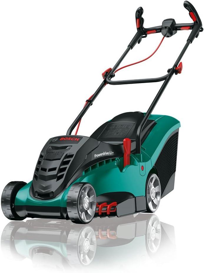 Bosch Home and Garden 06008A4409 Rotak 370 LI Cortacésped con 2 baterías de Litio, 36 W, 36 V, Negro/Verde, 37 cm