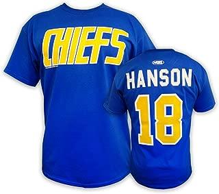 Hanson Brothers Officially Licensed Slap Shot Movie t-Shirt #18 Hanson Charlestown Chiefs