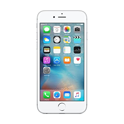 Apple iPhone 6 S - Smartphone de 64 GB, Color Plata (Reacondicionado)